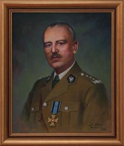 Portret gen. Władysława Sikorskiego. Molga Jan. 73x60