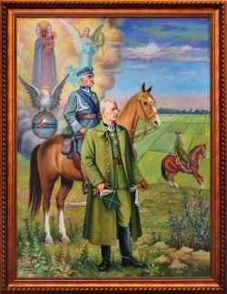 Apoteoza 7 Pułku Ułanów. Molga Jan. 160x129 cm