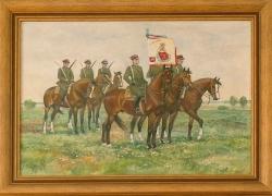 Poczet sztandarowy rok 1938. Konowrocki Jerzy. 54x73cm