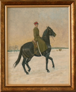 Oficer na Koniu /po roku 1935/. Konowrocki Jerzy. 41x33cm