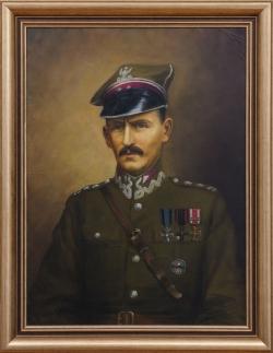 Portret ppłk. Kazimierza Stamirowskiego. Molga Tadeusz. 81x60cm