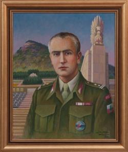 Portret ppłk. Bronisława Mokrzyckiego. Molga Jan. 73x60cm