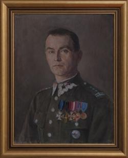 Portret płk. Leonarda Łodzi-Michalskiego. Just Stefan. 68x53cm