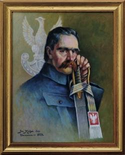 Portret Józefa Piłsudskiego. Molga Jan.
